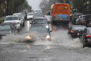 Powerful storm hits Southern California, flooding highways