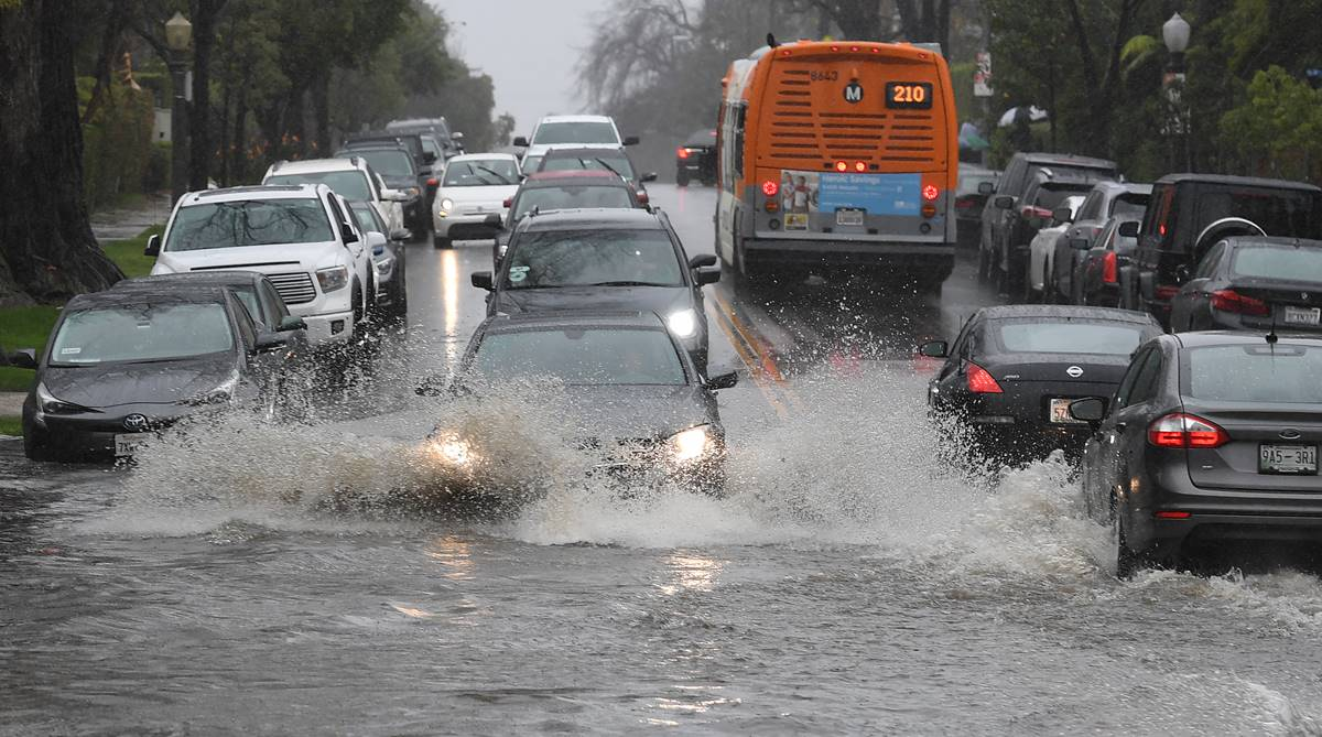 Southern California, California storm, flooded highways, weather report, weather update, Santa Barbara, Pacific Coast Highway, California fire