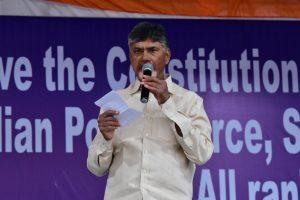 TDP chief Chandrababu Naidu announces peaceful protest against PM Modi