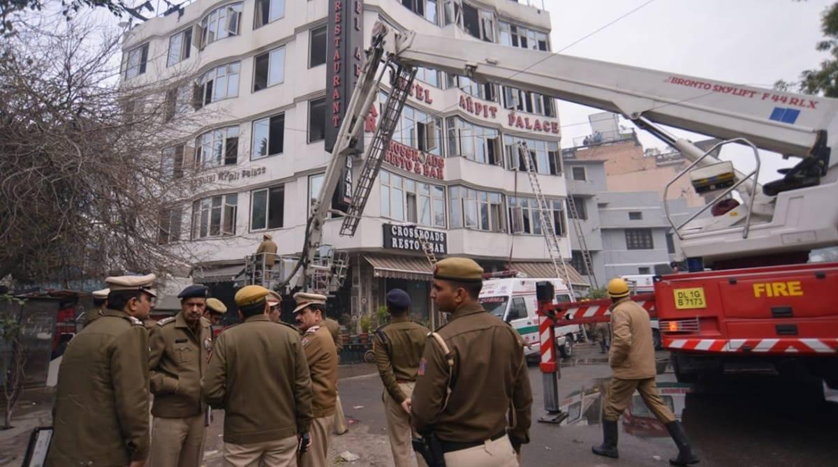 Karol Bagh, Karol Bagh hotel, hotel fire, Delhi, Delhi fire, New Delhi, Hotel Arpit Palace, Delhi fire department