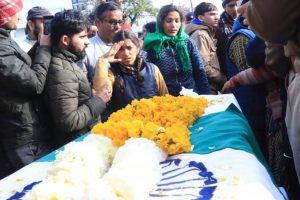 Emotions run high as daughter salutes martyred CRPF jawan Mohan Lal Raturi