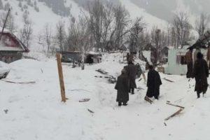 30 houses damaged in Gurez avalanche in J-K