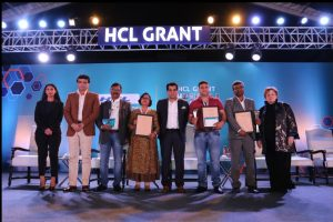 Sourav Ganguly, Amitabh Kant felicitate recipients of HCL Grant 2019
