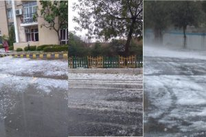 Delhi, NCR lashed by heavy rains, hailstorm; check out photos and videos