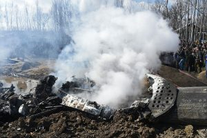 IAF chopper crashes in Jammu and Kashmir's Budgam; 2 pilots, civilian dead