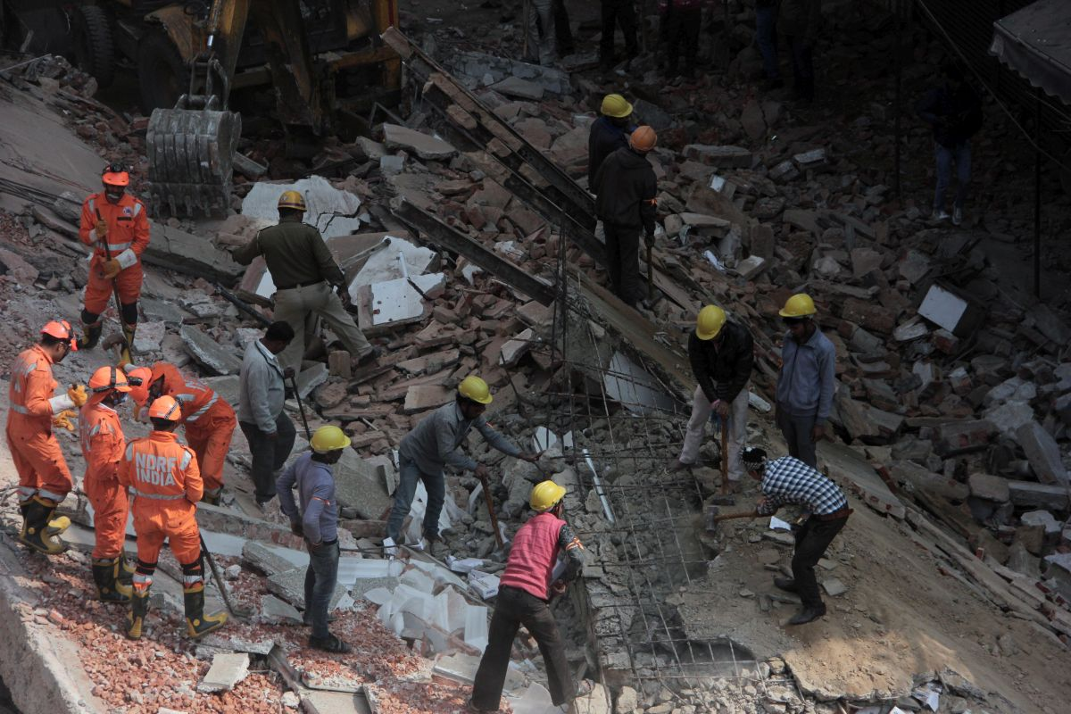 4-storey Karol Bagh building collapses in Delhi; no casualty