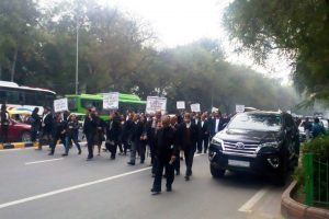 Lawyers take out protest march demanding increased welfare