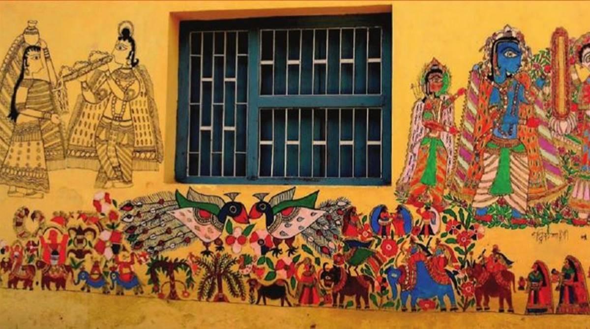 Madhubani paintings, Madhubani art, Mithila paintings, Bihar, Art form of Bihar, Madhubani, Padma Bhushan, Padma Shri, Godawari Dutta, Mithila Museum Japan