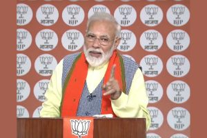 World is witnessing India's collective will, PM Modi tells BJP workers