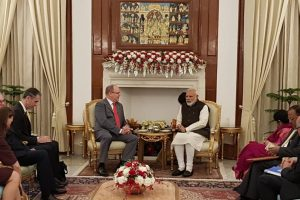 PM Modi discusses climate change, renewable energy with Prince Albert II of Monaco