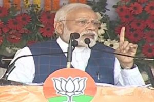 PM Modi launches frontal attack on Congress in Chhattisgarh