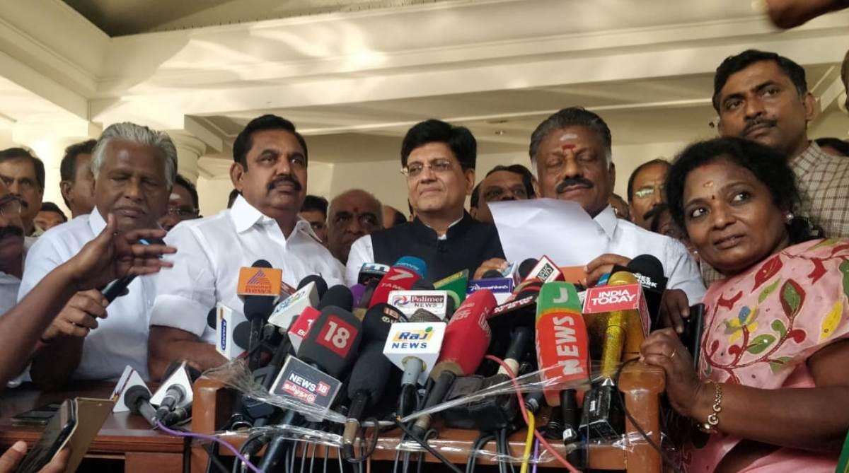 Lok Sabha polls 2019, BJP-AIADMK, Alliance, Tamil Nadu, BJP, AIADMK
