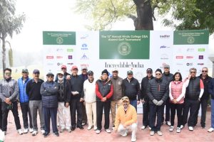 Annual Golf Tournament organized by Hindu College, attended by Union Minister Rao Inderjit Singh