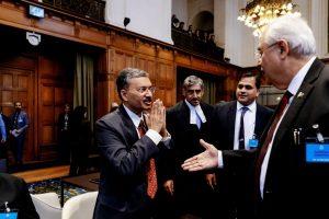 Senior Indian officials at ICJ snub Pak handshake offer with Namaste