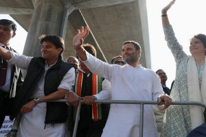 Priyanka Gandhi Vadra kicks off mega Lucknow roadshow with Rahul beside her