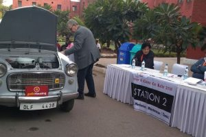 The Statesman Vintage and Classic Car rally: Pre-judging begins