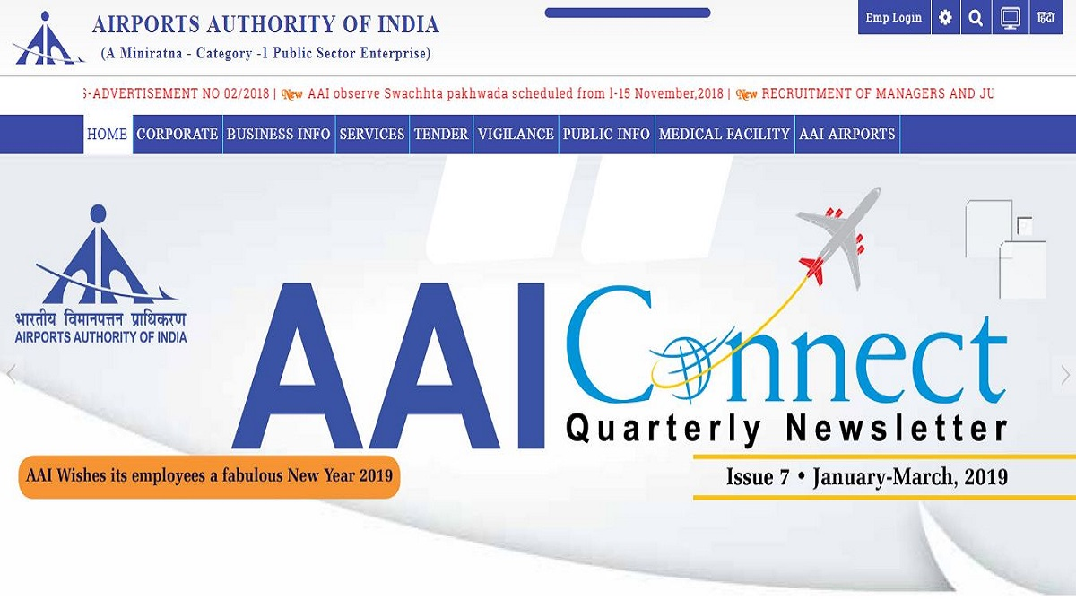 AAI recruitment 2019, Apprentice posts, Airports Authority of India, aai.aero/en, AAI recruitment