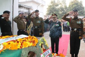 Martyr Ajay Kumar cremated with full military honours