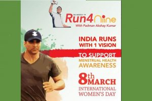 Run with 'Pad Man' Akshay Kumar to create awareness about menstrual hygiene