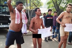 Nude protest staged in Guwahati against Citizenship Bill
