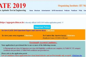 GATE 2019 answer keys released at gate.iitm.ac.in | Check all information here