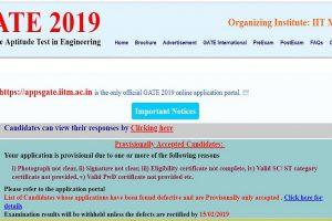 GATE 2019: Name Correction window opens for 4 days at gate.iitm.ac.in, check details here