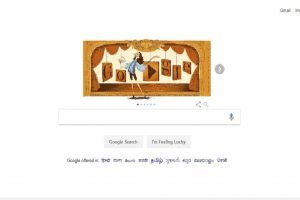 Google doodle honours French playwright and stage artiste Molière