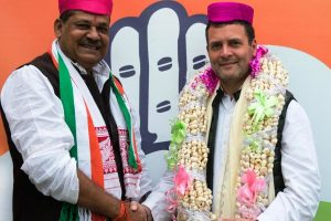 Kirti Azad, former BJP leader, joins Congress in presence of Rahul Gandhi