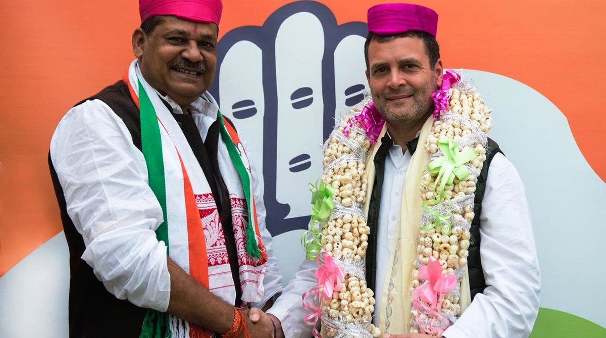 Kirti Azad, former BJP leader, joins Congress in presence of Rahul Gandhi