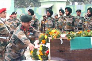 Army, IAF officers pay tributes to martyred Indian Army Major