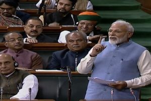 Heard about 'earthquake', but saw planes flying in House: PM Modi in final Lok Sabha speech