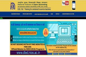 NIOS D.El.Ed results for third exams declared at dled.nios.ac.in | Direct link here