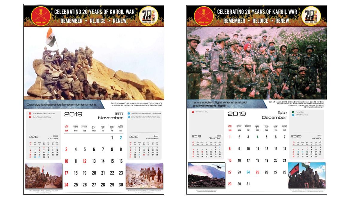 20 years of Kargil: 2019 Kargil Vijay Diwas calendar will