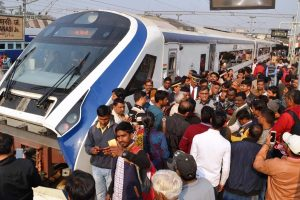 Vande Bharat Express' windows, driver screen damaged by flying ballast