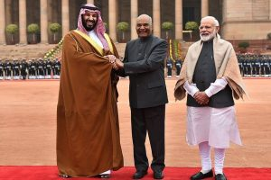 Saudi Crown Prince receives ceremonial reception in Delhi; talks likely on Pak-sponsored terror