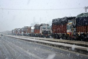 Snow and landslides cut off link with Kashmir valley