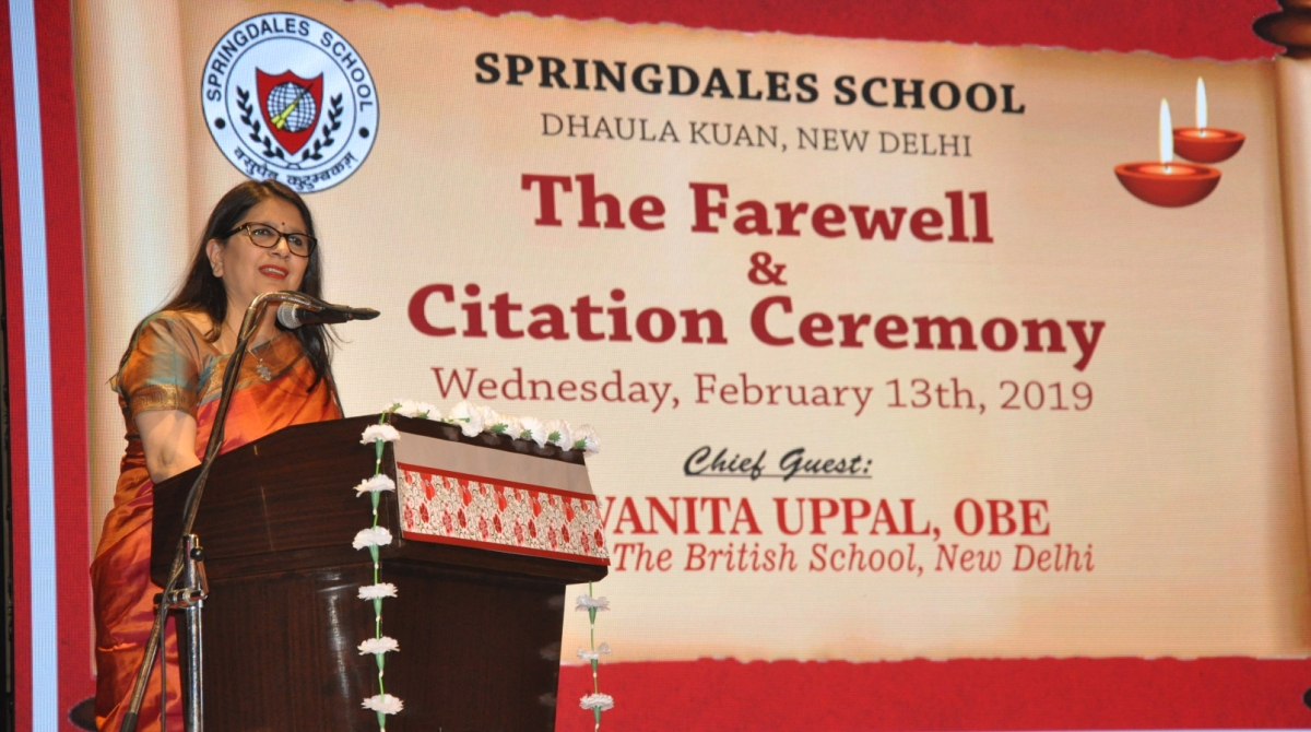 Citation Ceremony of class XII 2019 batch held at Springdales School in Dhaula Kuan