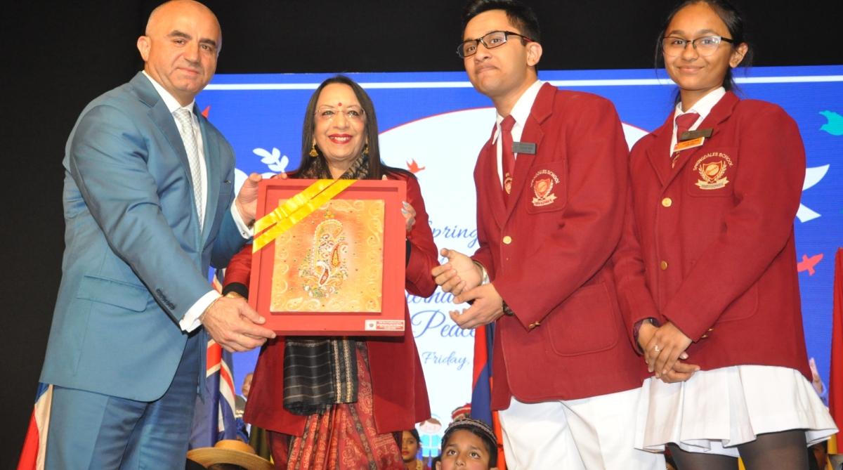 Springdales School, The International Children's Festival, Jyoti Bose, Shri Yudister Kumar, Armen Martirosyan