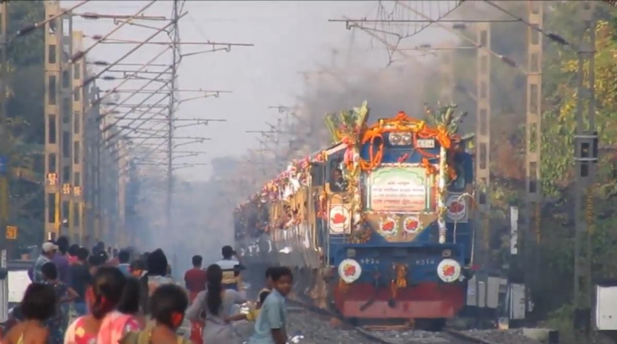 Urs Special Train, India-Bangladesh train, Maitree Express, Midnapore, Rajbari, Urs Special train history