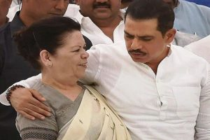 Robert Vadra, mother appear before ED in land scam case; term govt 'vindictive'