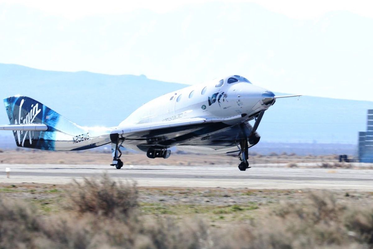 Virgin Galactic reaches 90 km above Earth's surface, touches edge of space