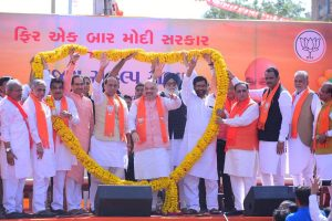 'Was booth worker, now BJP chief': Amit Shah holds mega roadshow ahead of nomination filing