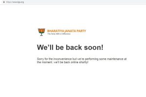 Day after alleged hacking attempt, BJP official website still unreachable