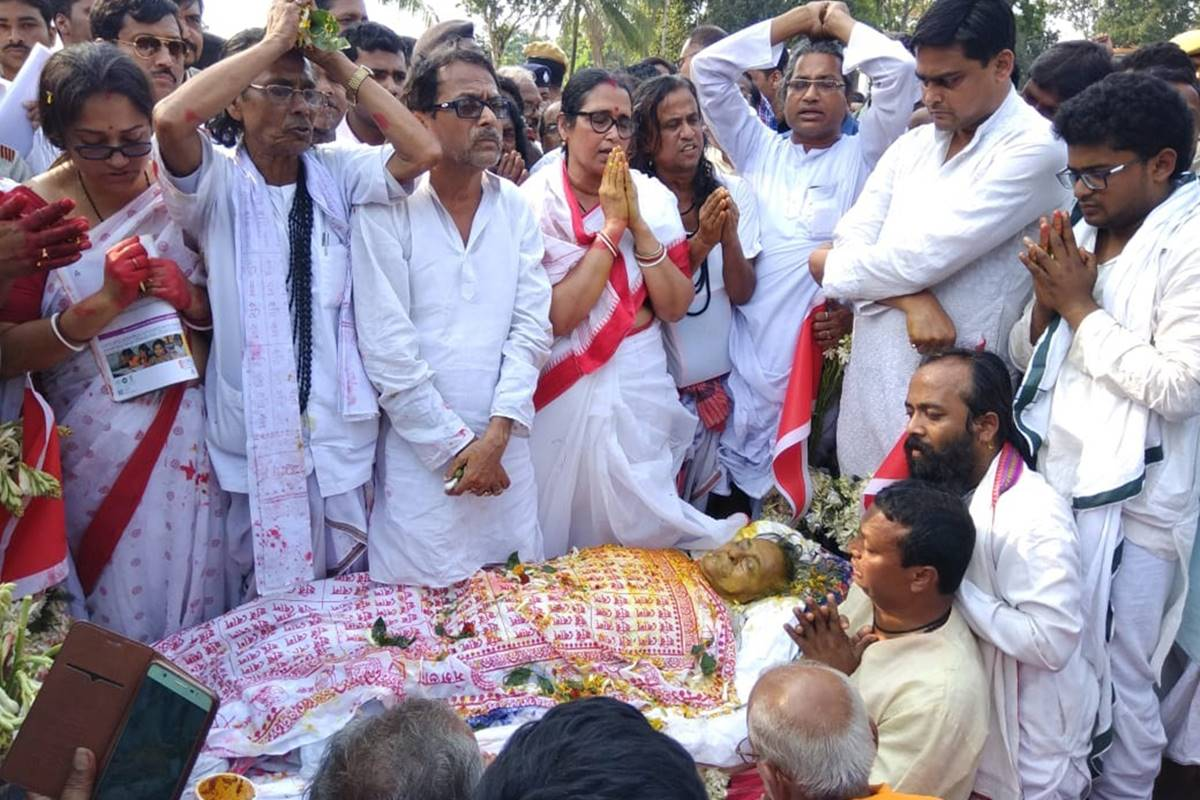 Matua matriarch Boroma cremated with full state honours in Thakurnagar