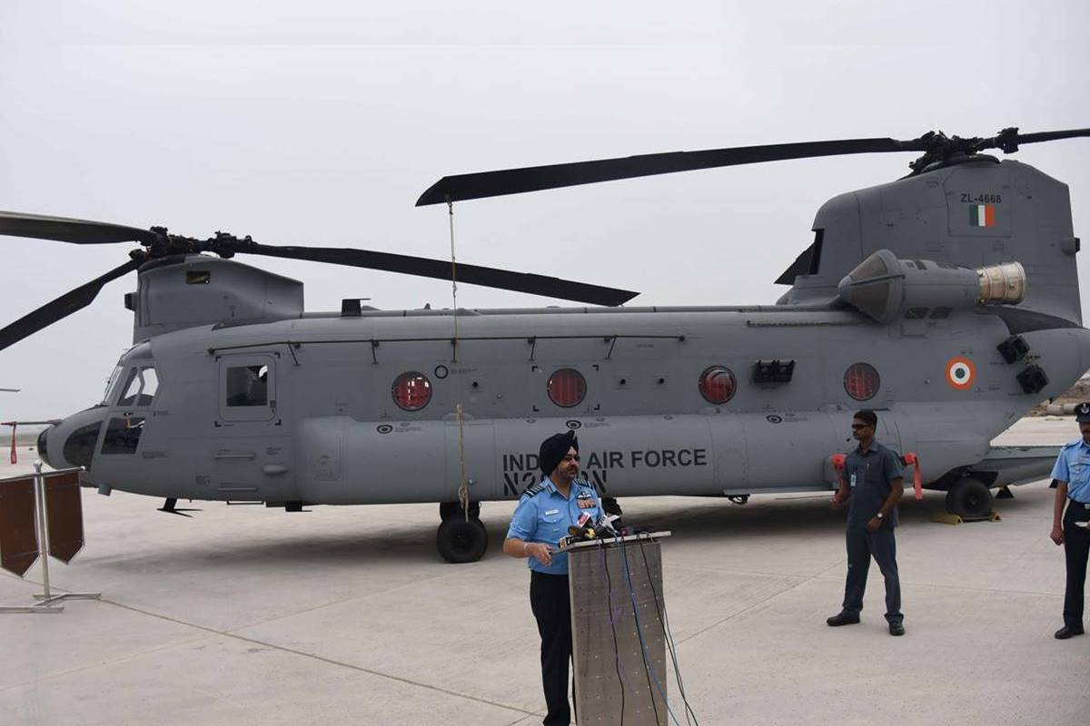 IAF Chinook helicopters, IAF Chinook, IAF, Chinook helicopters, Air Chief Marshal BS Dhanoa, Indian Air Force, Rafale, 126 HU, 126 Helicopter Unit