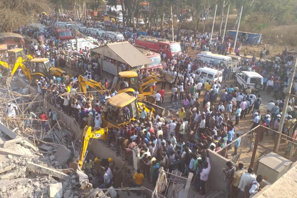 Karnataka, HD Kumaraswamy, Under-construction, Building collapse, Dharwad