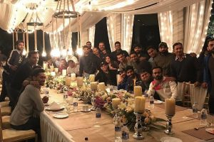 MS Dhoni hosts dinner for Team India at Ranchi home