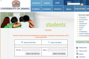 Jammu University declares UG 5th Sem Non-CBCS Results 2018 at jammuuniversity.in, coeju.com