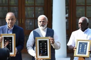 PM Modi releases new series of coins designed to help visually impaired