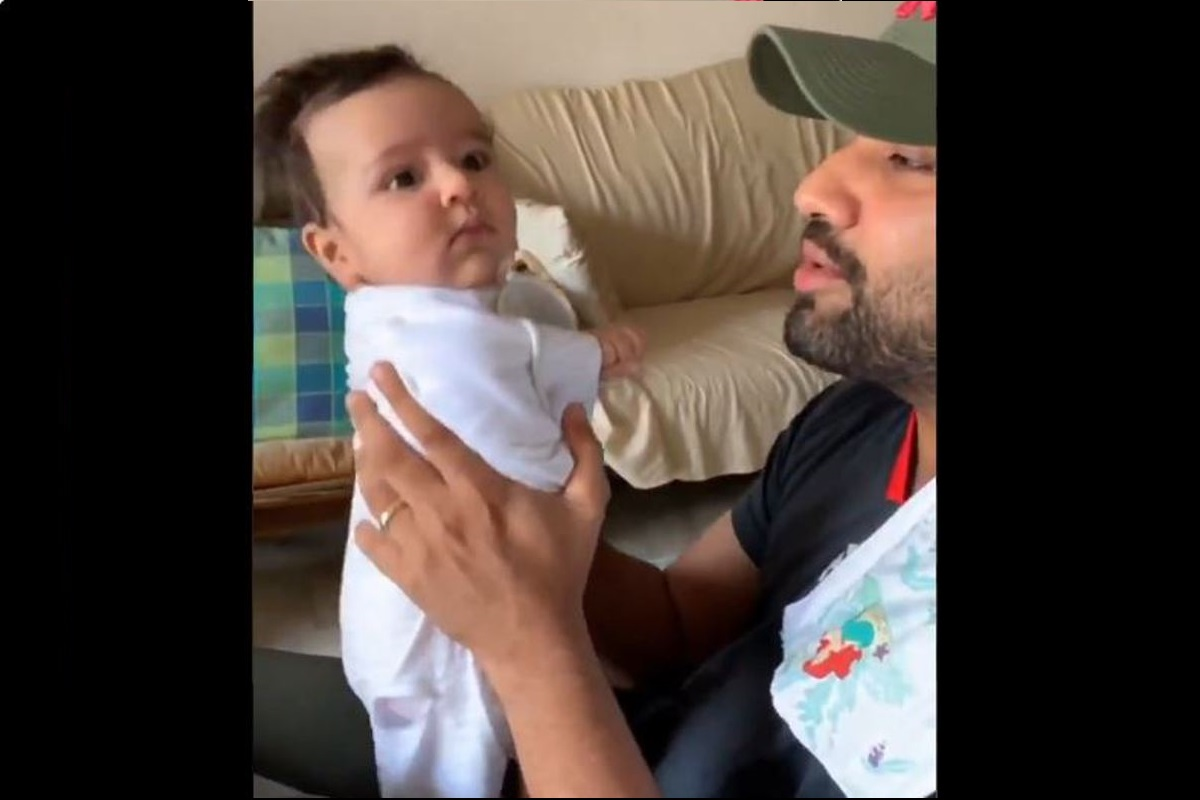 Rohit Sharma, Gully Boy track, Samaira, Daughter, Internet, Rohit Sharma raps, Gully Boy rap